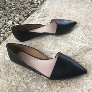 Madewell Lydia Flats d'Orsay Black Pointed Toe